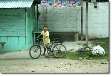 Picture of Boy and Bicycle, Guatemala